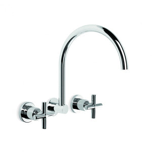 City Plus Wall Set With Swivel Spout (Chrome)