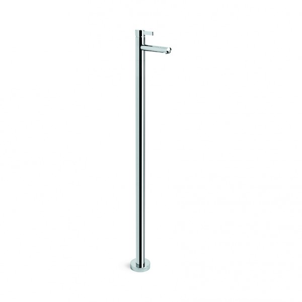 City Que Basin Mixer Floor Mounted (Chrome)