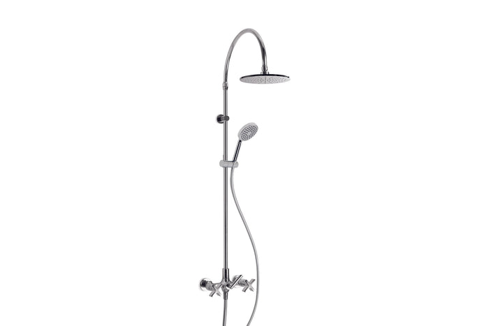 City Que Shower Diverter Set with 225mm rose and Single Function Handshower on Slider (Chrome)