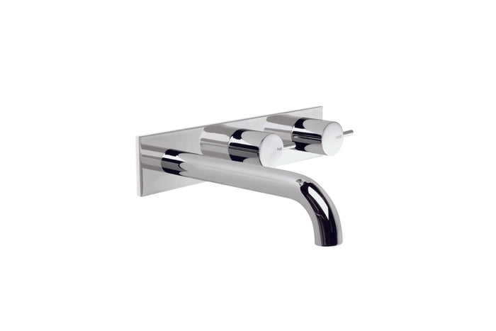 City Stik Wall Set with 200mm Spout, Backplate and Installation Kit (Chrome) (Flow Control)