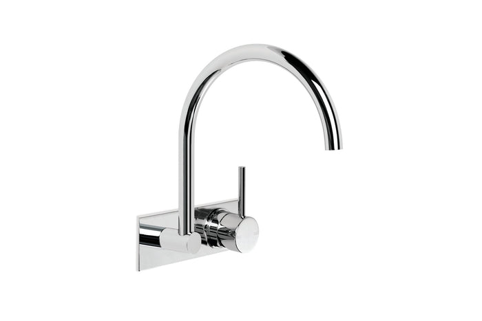 City Stik Wall Set with Mixer and Backplate (Chrome) (Flow Control)