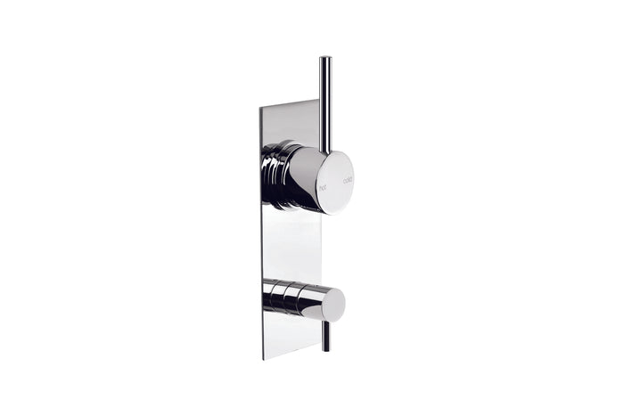 City Stik Shower/Bath Diverter Mixer with Rectangular Plate (Chrome)