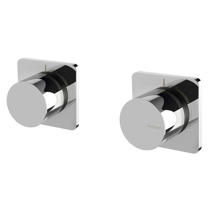 Toi Wall Top Assemblies Extended 15mm (Chrome)