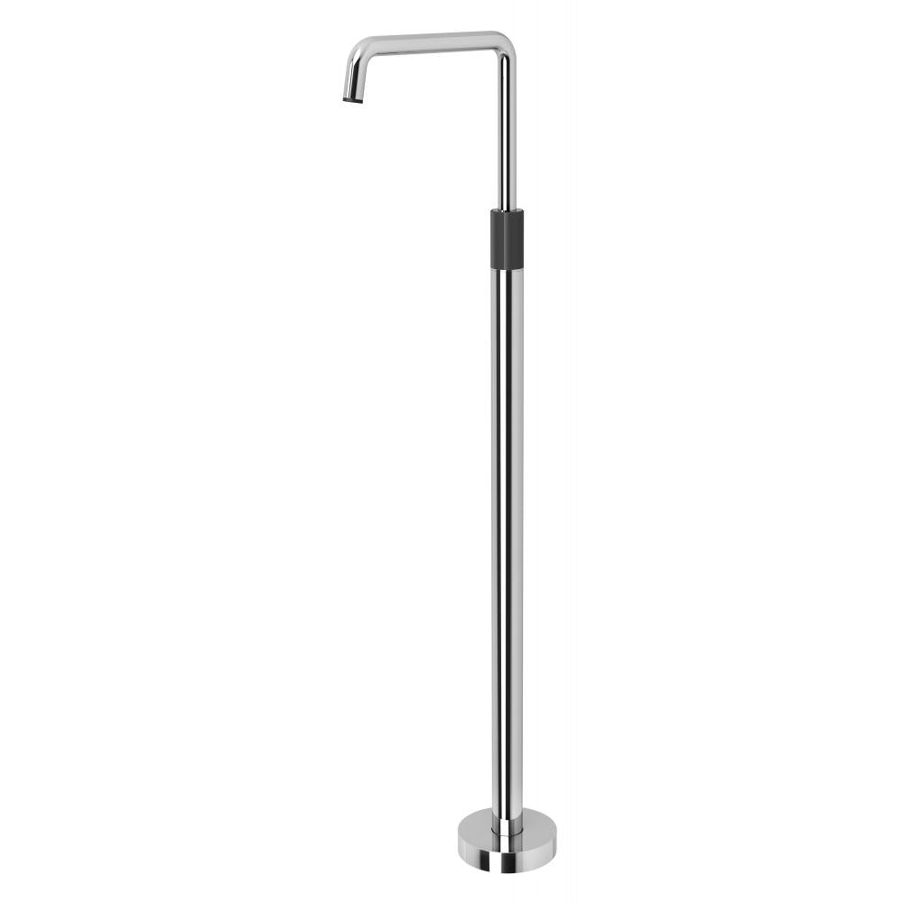 Toi Floor Mounted Bath mixer (Chrome & Matte Black)