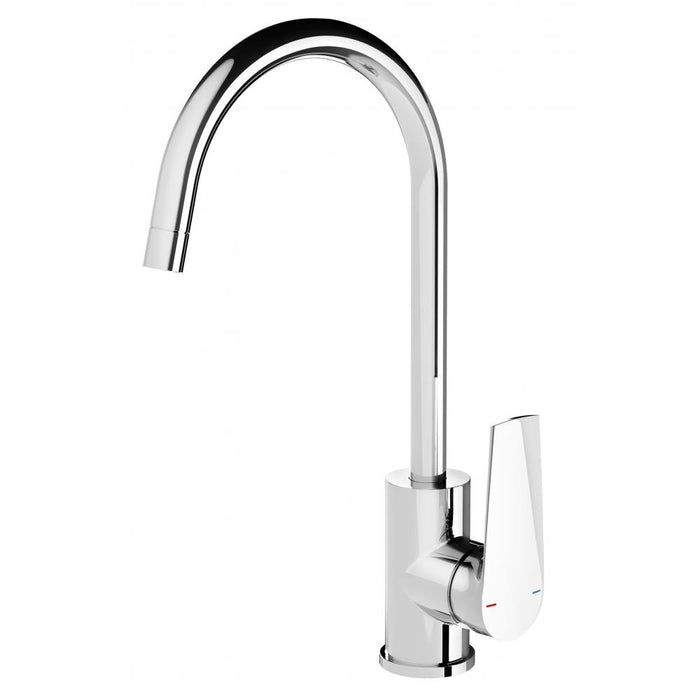 Arlo Sink Mixer 20mm Gooseneck (Chrome)