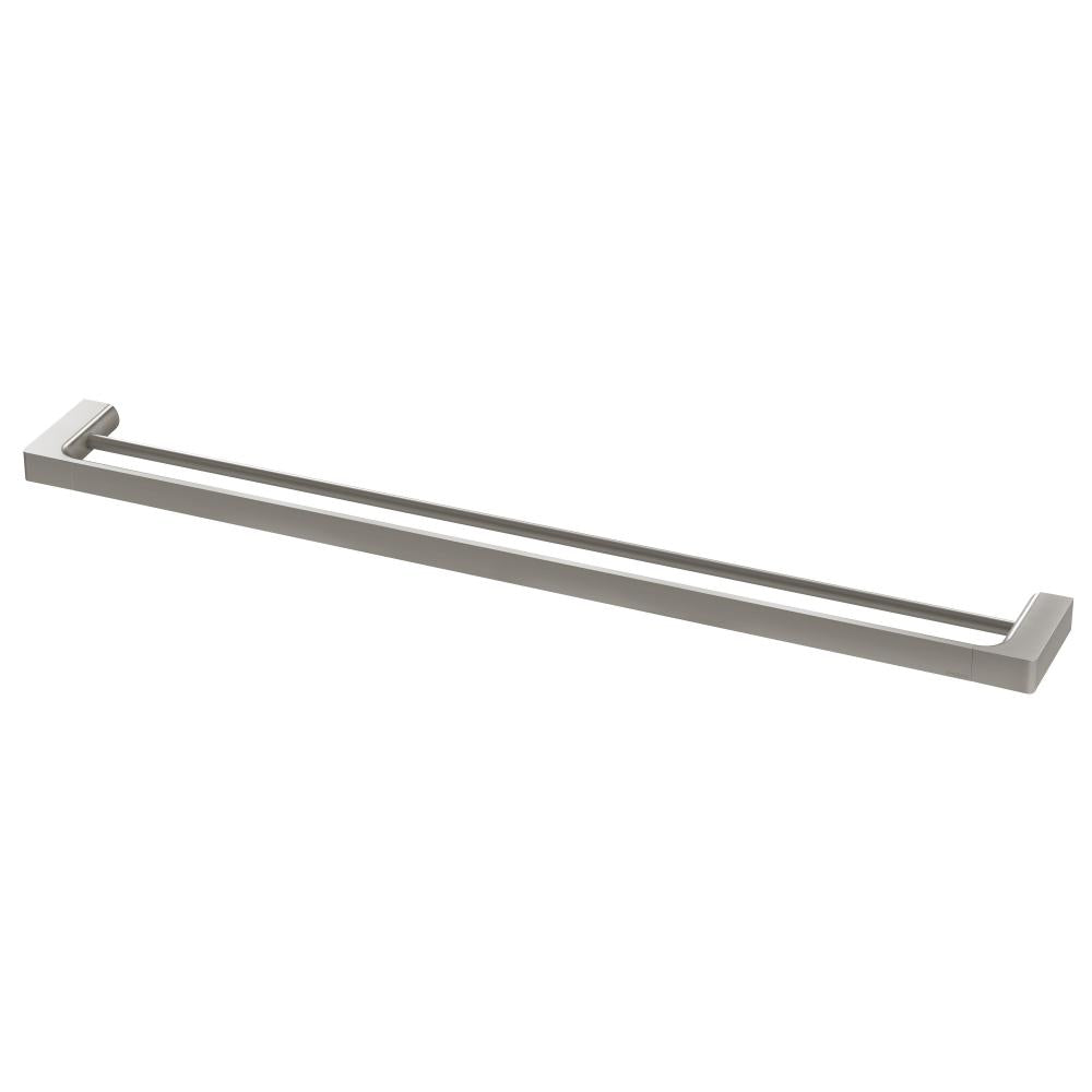 Gloss Double Towel Rail 800mm (Brushed Nickel)