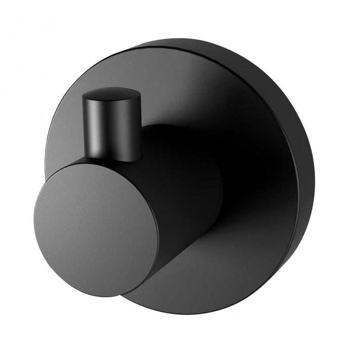 Radii Robe Hook (Round) (Matte Black)