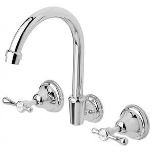 Rhapsody Lever Wall Sink Set (Chrome)