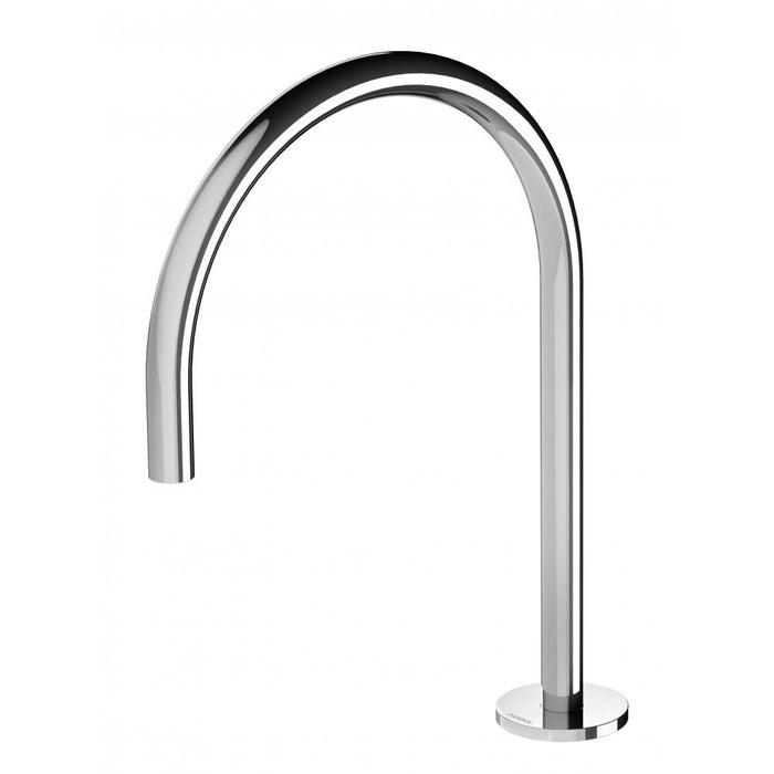 Vivid Slimline Hob Sink Outlet 220mm Gooseneck (Chrome) - Male connector