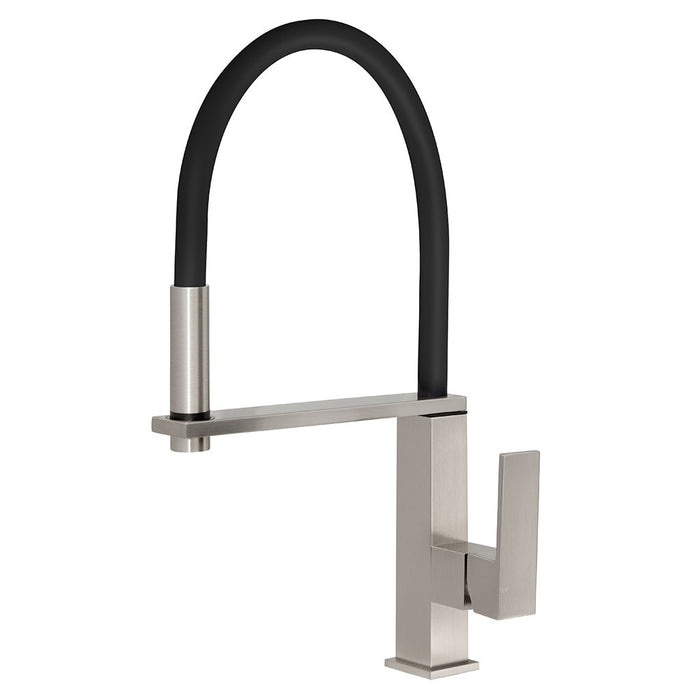 Vezz Flexible Hose Sink Mixer (Square) (Brushed Nickel)