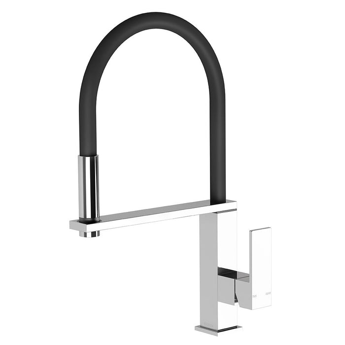 Vezz Flexible Hose Sink Mixer (Square) (Chrome)