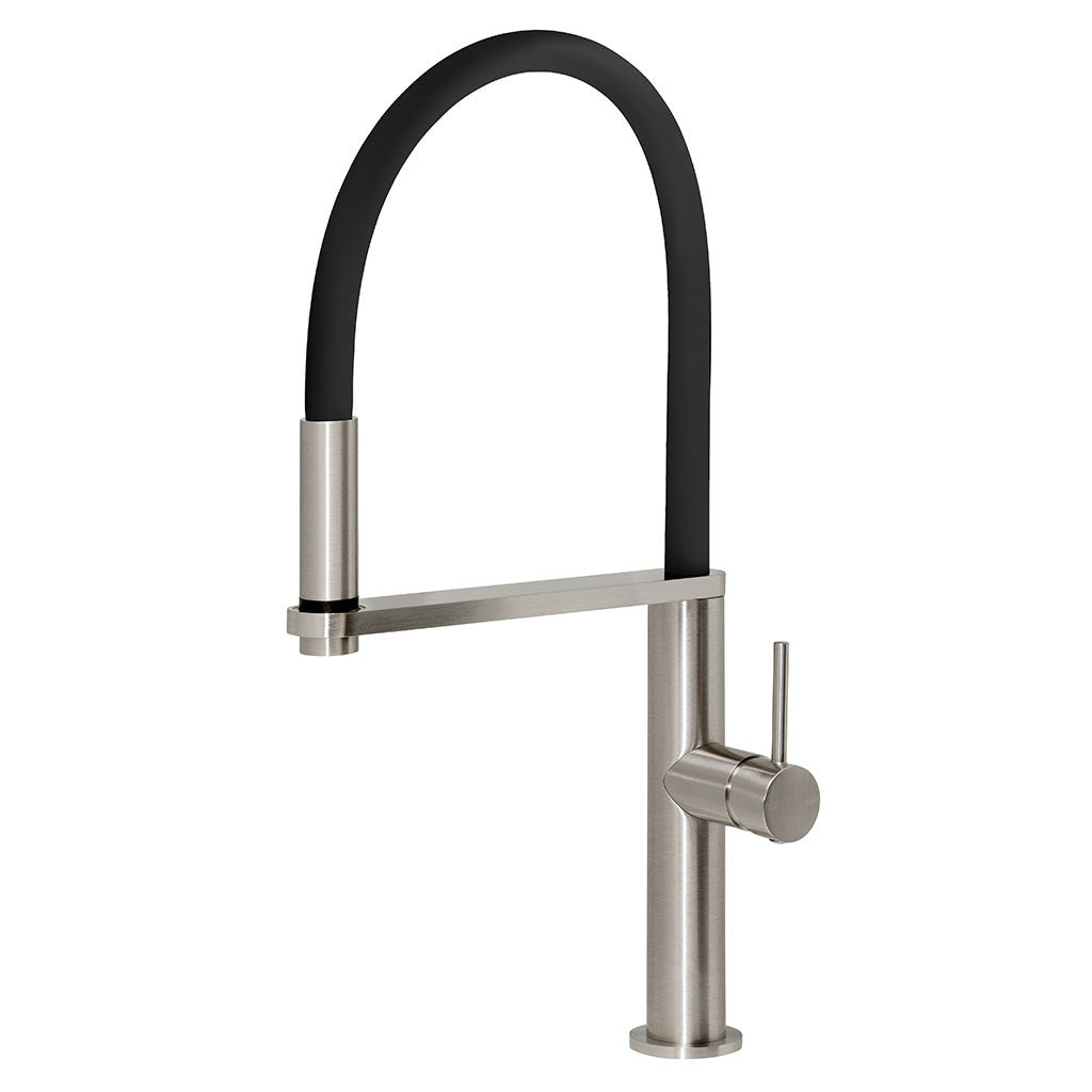 Phoenix Tapware Blix Flexible Hose Sink Mixer (Round) (Brushed Nickel) 10473100BN