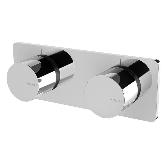 Toi Twin Shower / Wall Mixer (Chrome)