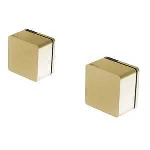 Phoenix Tapware Alia Wall Top Assemblies 15mm Extended Spindles (Brushed Gold) 110-0670-12