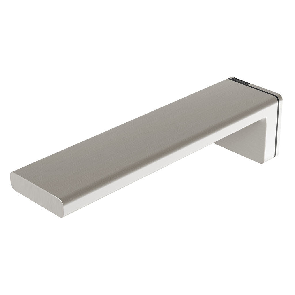 Phoenix Tapware Alia Wall Basin / Bath Outlet 200mm (Brushed Nickel) 110-7610-40