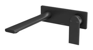 Teel Wall Basin/Bath Mixer Set 200mm (Matte Black)