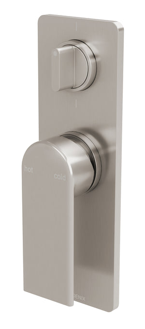 Teel Shower/Bath Diverter Mixer (Brushed Nickel)