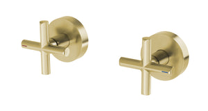 Vivid Slimline Plus Wall Top Assemblies 15mm Extended Spindles (Brushed Gold)