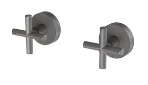 Vivid Slimline Plus Wall Top Assemblies 15mm Extended Spindles (Gun Metal)