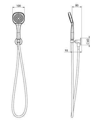 Teva Hand Shower (Line Drawing)
