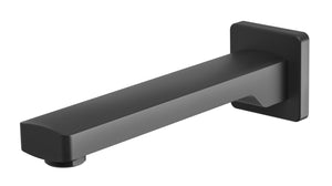 Teva Wall Bath Outlet 200mm (Matte Black)