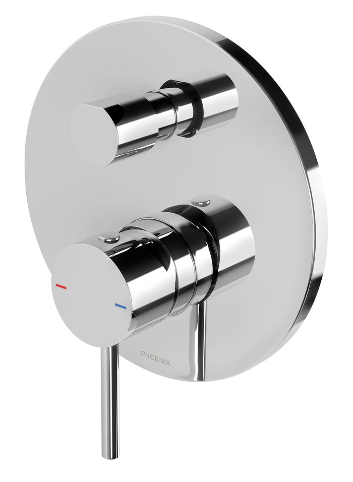 Pina Shower/Bath Diverter Mixer Trim Kit Only (Chrome)