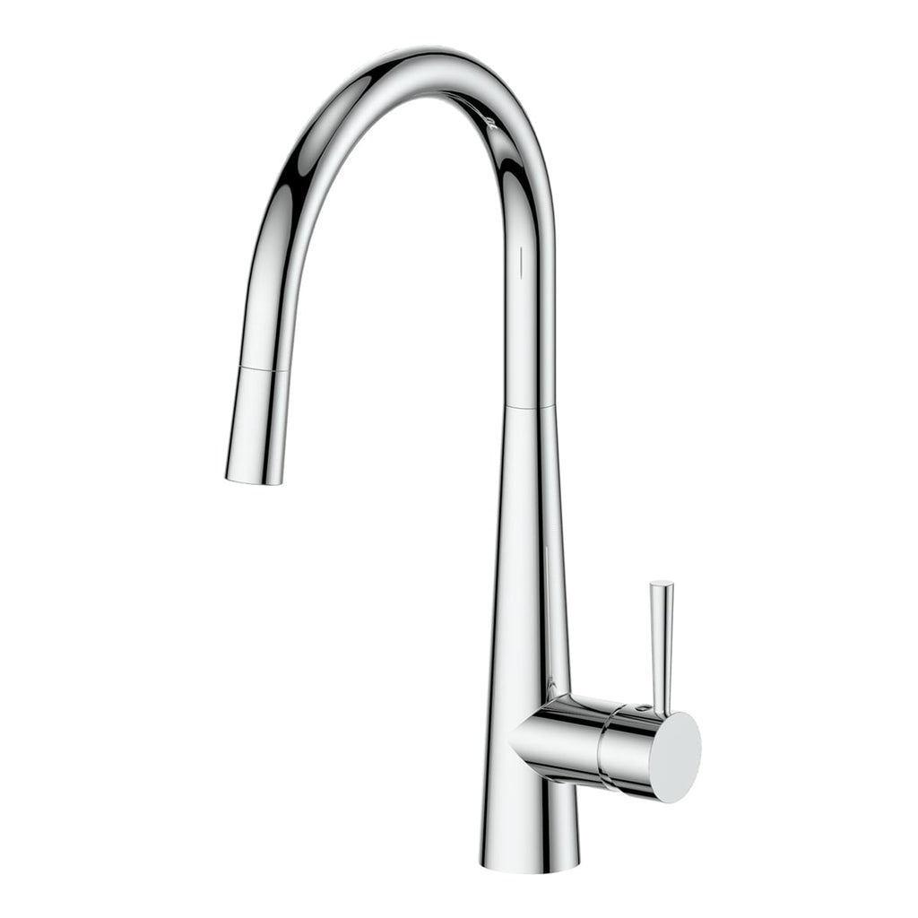 ZEON Galiano Pull Down Sink Mixer Chrome Dual Function
