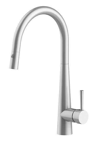 ZEON Galiano Pull Down Sink Mixer Brushed Nickel Dual Function