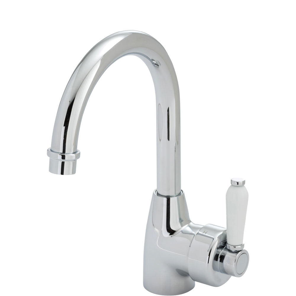 Eleanor Gooseneck Basin Mixer (Chrome/Ceramic)