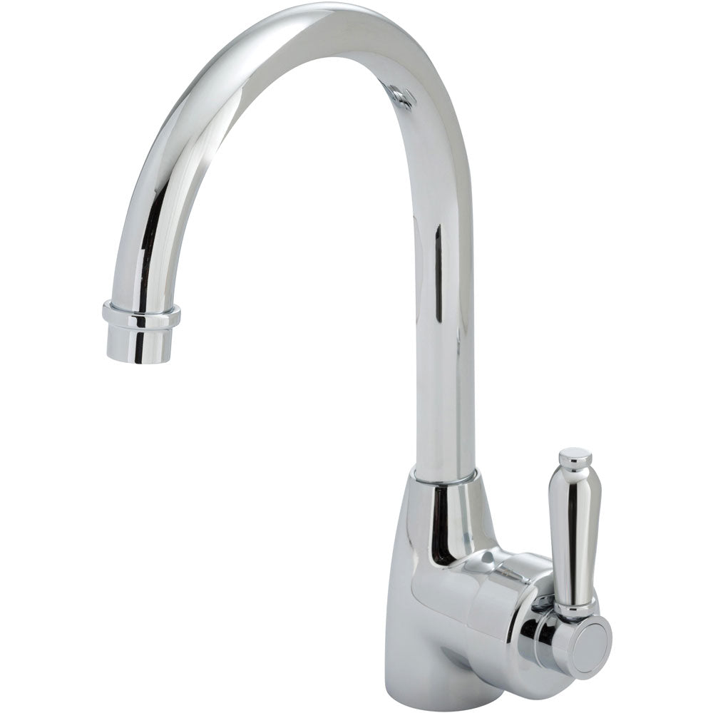 Eleanor Gooseneck Sink Mixer (Chrome)