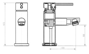 Isabella Short Basin Mixer Diagram