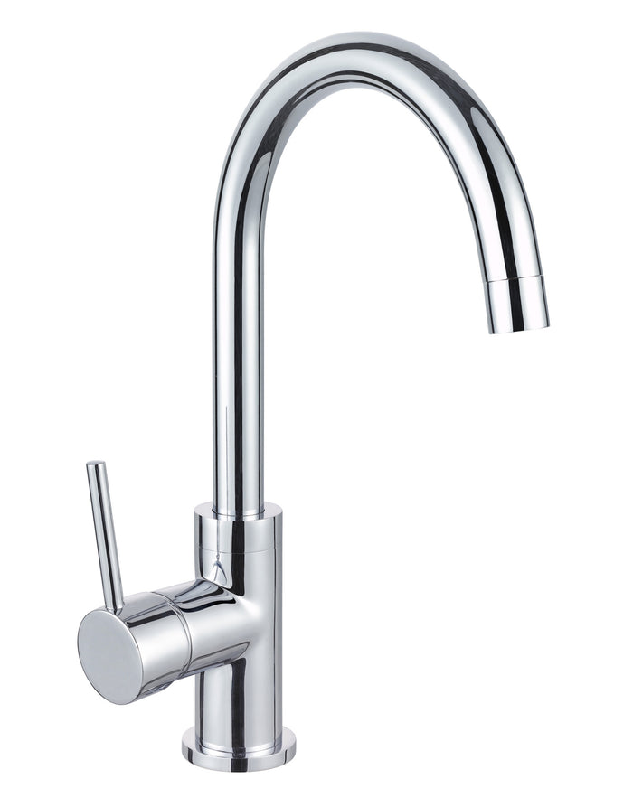 Isabella Gooseneck Swivel Sink Mixer (Chrome)