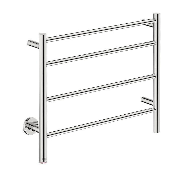 Natural 4 Bar 650 Straight Heated Towel Rail