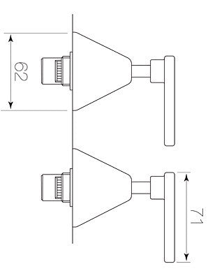 Chisel Wall Tap Pair, C. Disc Lever Diagram