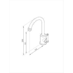 Bastow Federation Basin Mixer (Line Drawing)
