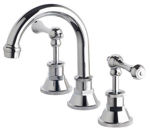 Bastow Victorian Lever Basin Set (Chrome)