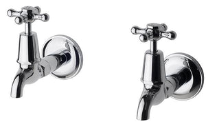 Bastow Federation Pillar Taps Pair (Chrome)