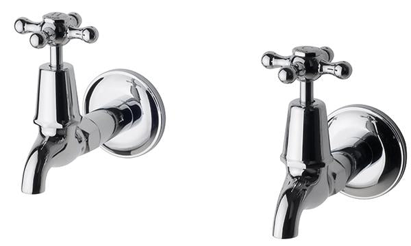 Bastow Federation Bib Taps Pair (Chrome)