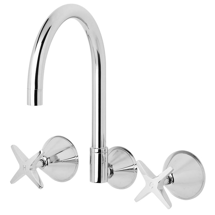 Ivy Wall Sink Set (Chrome)