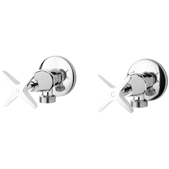 Ivy Washing Machine Taps/Stops (Chrome)