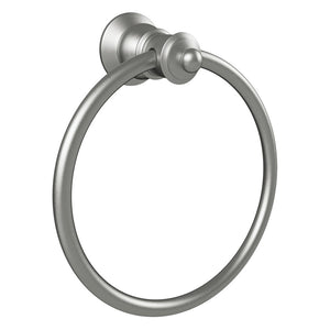 Lillian Hand Towel Ring (Brushed Nickel)