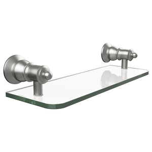 Lillian Glass Shelf (Brushed Nickel)