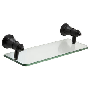 Lillian Glass Shelf (Matte Black)