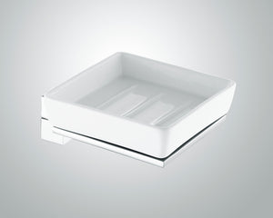 Jet Soap Holder White/Chrome
