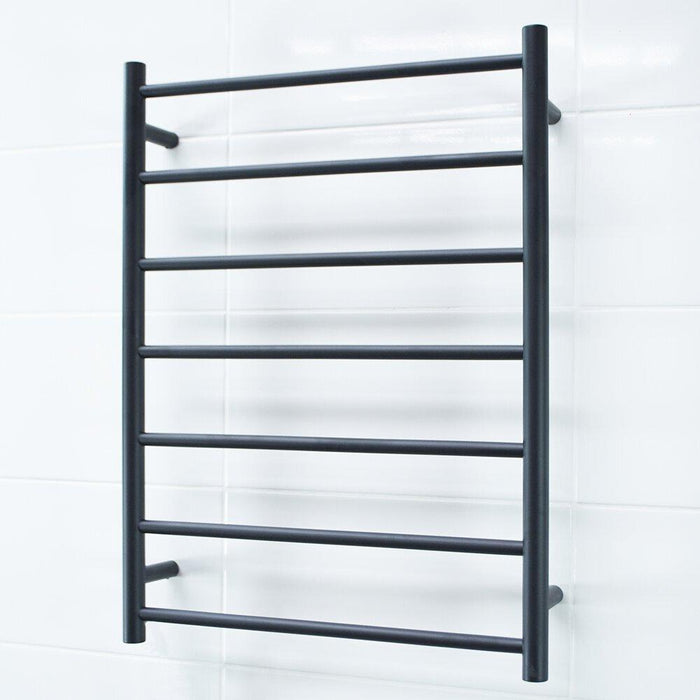 Radiant Heated Towel Rail Round 600x800 (Matte Black)