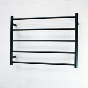 Radiant Heated Towel Rail Round 750x550 (Matte Black)