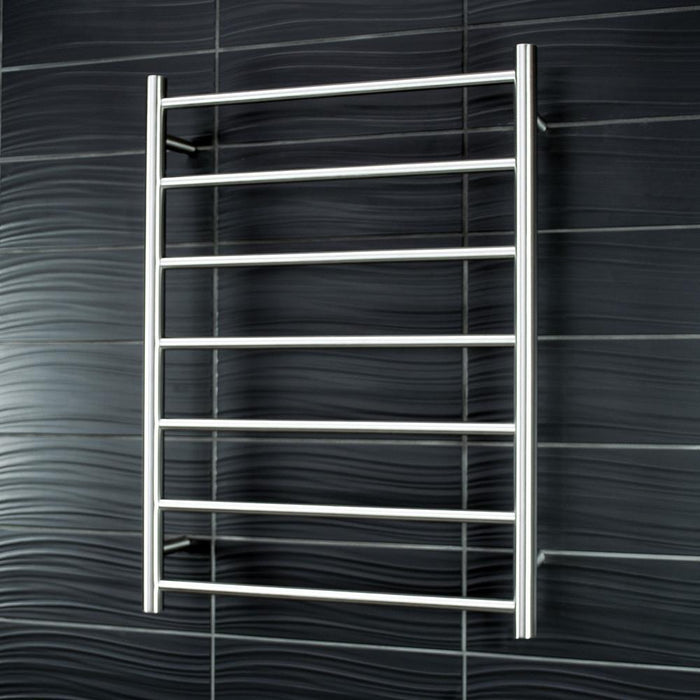 Radiant Heated Towel Rail Round 600x800 (Brushed Satin)