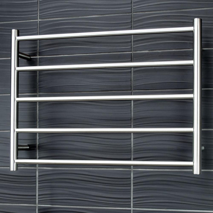 Radiant Heated Towel Rail Round 750x550 (Brushed Satin)
