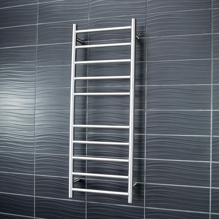 Radiant Heated Towel Rail Round 430x1100 (Brushed Satin)
