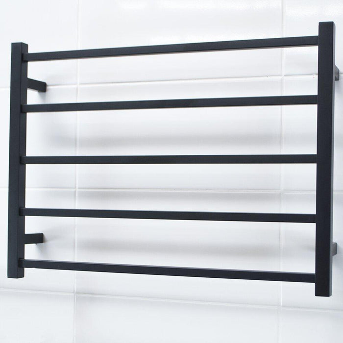 Radiant Heated Towel Rail Square 750x550 (Matte Black)